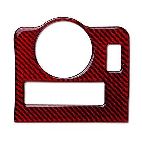 LBLDD Decorazione di Controllo Centrale per Auto per M // Ustang 2009-2013 Accessori per Auto Manopole per Interruttore Fari Decorativo Tema Rosso Adesivo in Fibra di Carbonio Cornice Interna Tri