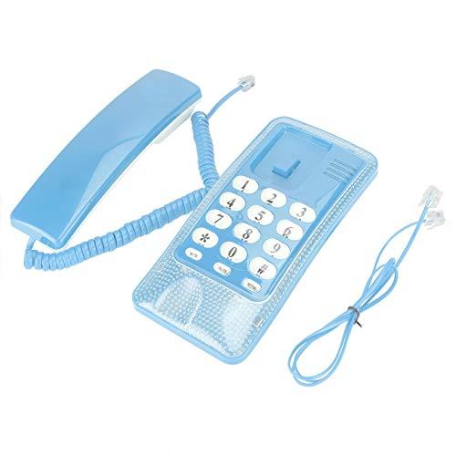 Leylor Teléfono Comercial - Extensión de teléfono Fijo de Montaje en Pared Sin identificador de Llamadas Teléfono residencial para la Familia del Hotel(Rojo)