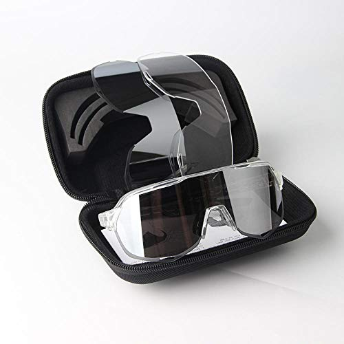 WQZYY&ASDCD Gafas de Sol Gafas De Bicicleta Deportiva-S2_Clear_Gray
