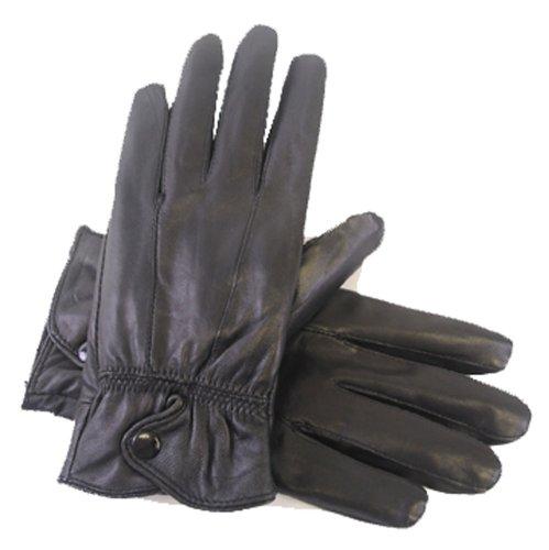 Socks Uwear Damen-Winterhandschuhe aus Leder mit Thermo-Innenfutter, warm & weich Medium schwarz - schwarz