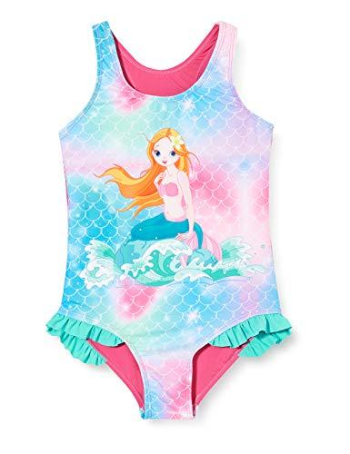 Playshoes Mädchen Meerjungfrau Badeanzug, pink, 98/104