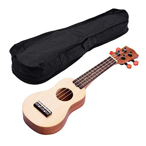 ABMBERTK 17 Zoll Mini Acoustic Ukulele, mit Tragetasche Travel Portable Ukelele, Fichtenholz Topboard 4-saitige Gitarre, X09 Ukulele