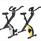 Knoijijuo Tissage Fitness Vélos, Vélos Pliants Upright Exercice Stationnaires avec Affichage Numérique Et Pédales Réglable en Hauteur du Siège, Home Couverture Exercice,Blanc