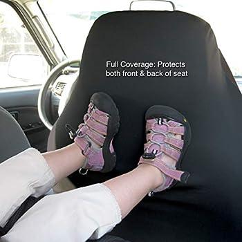 Kurgo Housse de siège passager pour chien, Imperméable et anti-déchirure, Taille unique, Accessoire pour chien pour protection de siège de voiture, Style CoPilot pour siège baquets, noir