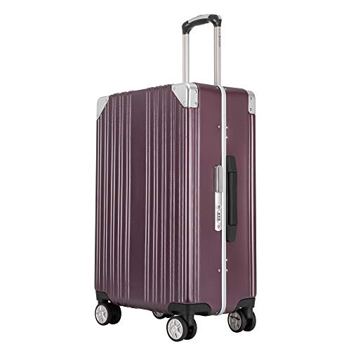 kroeus(クロース)キャリーケース スーツケース PC100%ボディ 4色選び 海外出張 旅行 TSAロック搭載 8輪 アルミフレーム S型機内持ち込み可 日本語取扱説明書 1年間保証付き 24