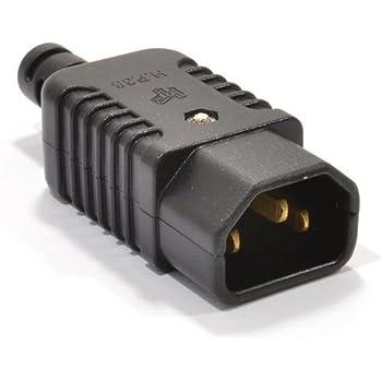 IEC 320/Adaptador Enchufe de 3/polos enchufe C14/A Hoja de Tr/ébol Mickey C5/recto Extensi/ón Adaptador de alimentaci/ón