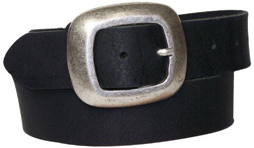 FRONHOFER Gürtel 4cm Büffelleder mit großer schöner Schnalle, Damengürtel 17277, Größe:Körperumfang 105 cm/Gesamtlänge 120 cm, Farbe:Schwarz