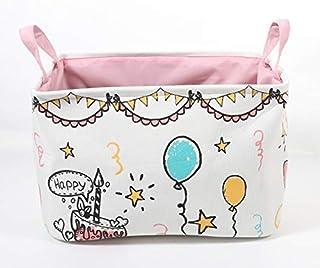 Small Foldable Storage Basket Collapsible Sturdy Fabric Storage bin Cube Basket for Organization Shelf Nursery Home Closet...