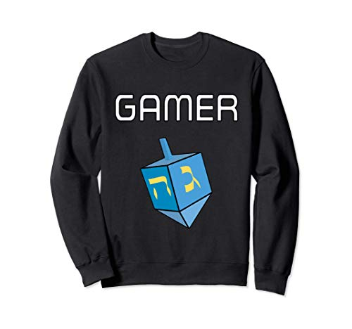 Hanukkah Gamer dreidel game Jewish Sweatshirt