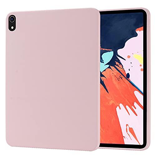 """Funda para iPad Pro 11""""2018, Carcasa de Silicona Líquida Suave Antichoque Bumper, Fundas Silicona Líquida Protección con Forro de Microfibra,Pink"""