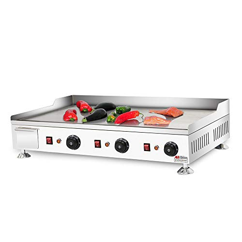 Buy ALDKitchen Flat Top Griddle | Teppanyaki Grill with Three Thermostats | No plug | 110V | Cooking...