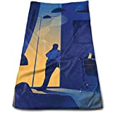WBinHua Handtücher, Sporthandtuch, Bath Towels Creative Office Art Painting Face Towels Highly Absorbent Washcloths Multipurpose Towels for Hand Face Gym and Spa 12' X 27.5'