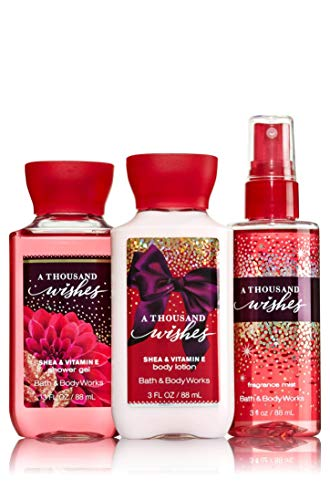 Price comparison product image Bath & Body Works A Thousand Wishes Mini Body Set / Shower Gel,  Body Lotion & Fragrance Mist
