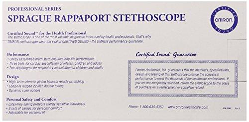 Omron Sprague Rappaport Stethoscope, Black