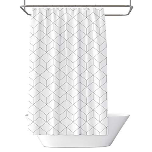 Rechteckiger Duschvorhang mit Würfelmuster, grün, weiß, dekorativer Duschvorhang für Badezimmer, Dusche, Standardgröße 180 x 180 cm