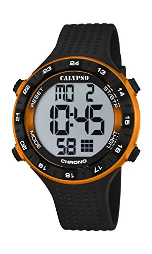 CALYPSO Reloj Modelo K5663/3 de la colección Digital FOR Man, Caja de 50,00/49,20 mm Correa de plástico Negro para Caballero