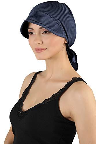 Deresina Headwear Hübscher Hut Mit Rückbinde Fur Haarverlust (Marine)