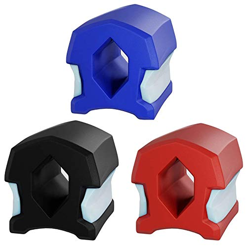 WOERD Jaw Trainer, Jawline Trainer, Double Chin Exerciser Ball, Exerciser und Neck Toning Schnelle Form, Schlank Und Straffen Sie Ihr GesichtsformRed + Black + Blue
