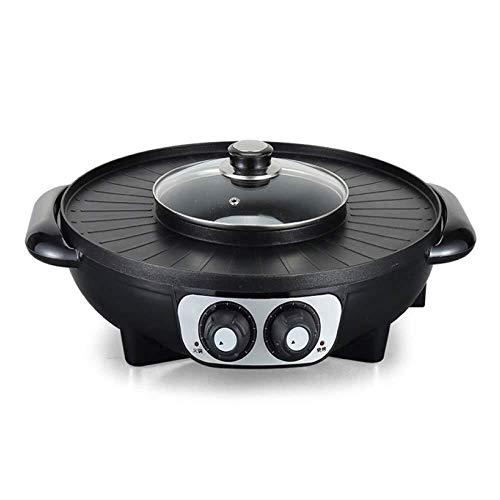 AZHom Barbacoa - Barbacoa eléctrica Coreana Hot Pot Maifan Stone Multi-función Hot...
