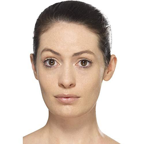 Smiffys Damen Harlekin Make-Up Set mit Gesichtsstickern, Wimpern, Juwel Stickern, Gesichtsfarben und Applikatoren, Rot, 44747