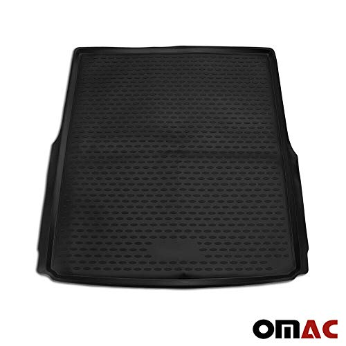 OMAC GmbH Kofferraumwanne Antirutschmatte Gummi Allwetter schwarz fahrzeugspezifisch für Passat B8 3G5 Variant 2014-2020