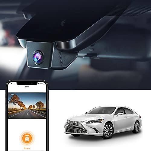Dash Cam for Lexus ES 2019 2020 2021, ES 350 300h 250, Fitcamx 2.5K Car Driving Recorder, HD 1944P Video WiFi, OEM Fit Accessories, Night Vision, Parking Mode, Plug Play with 32GB Memory Card