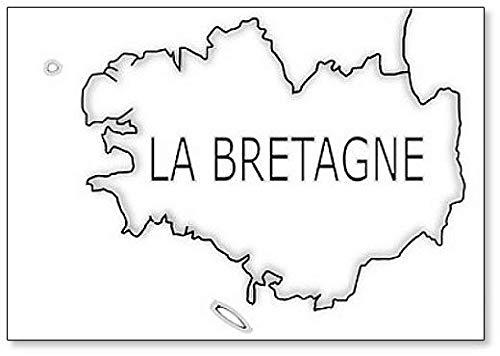 La Bretagne Kaart - Koelkast Magneet