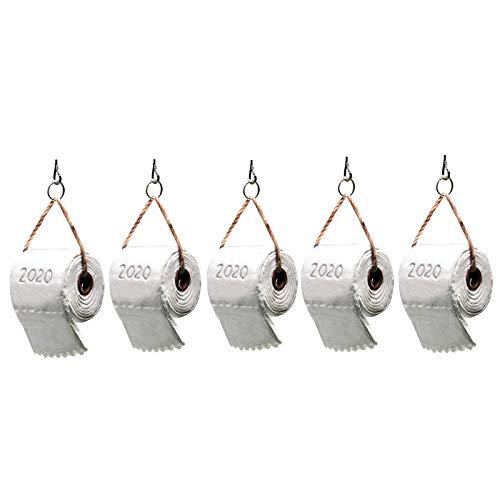 GoldPang 1/2/3/4/5 Stücke Weihnachtsschmuck 2020 Klopapier üBerlebende Familie,Weihnachten Dekorationen AnhäNger,DIY Weihnachtsdekorationen Baumschmuck Weihnachtsbaum HäNgen Ornament