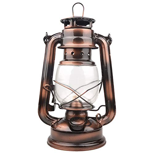 Lixada Lámpara de Camping Lámpara de Kerosene Clásico Lampara de Aceite Linterna de Senderismo Portátil Lámpara Clásico