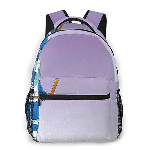 Laptop Rucksack Schulrucksack Eishockey, 14 Zoll Reise Daypack Wasserdicht für Arbeit Business Schule Männer Frauen