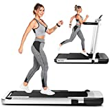 ANCHEER Treadmill for Home Use,2in1 Folding Treadmill with APP Control,2.25HP Electric Running Mchine for Home Gym Office Free Assembly (Gray)