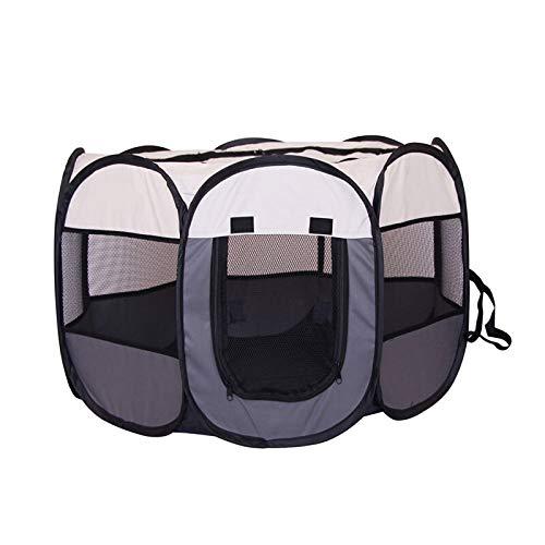 ZOKOP Tienda Portable Plegable Perro de Mascota Casa Octogonal Jaula for el Gato Carpa Parque Infantil Operación del Perrito de la Perrera fácil al Aire Libre Cerca de Big Perros de la casa