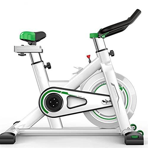 DJDLLZY Bicicletas estáticas, cubierta Ciclismo Bicicleta estática, la correa de accionamiento directo 12Kg volante, resistencia magnética, 3-piezas de manivela, for el hogar cardio del gimnasio con u