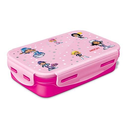 Milton Steely Deluxe Mini Inner Steel Kids Tiffin Box, Dark Pink