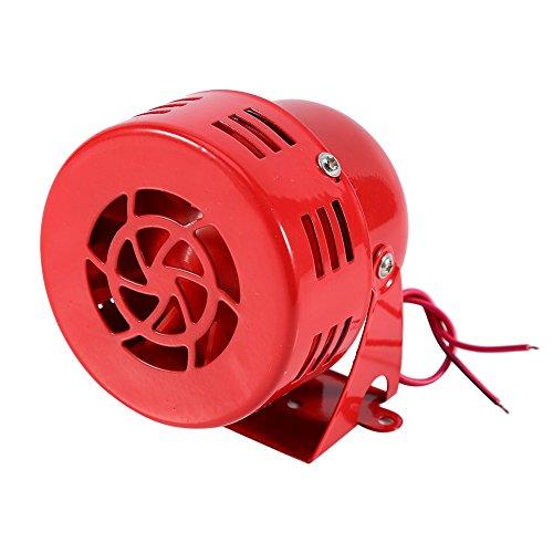 Rote Luft Sirenenhorn, 12V Elektroauto LKW Motor Getriebener Luftangriff Sirenen Horn Alarm Laut 50er Jahre Rot
