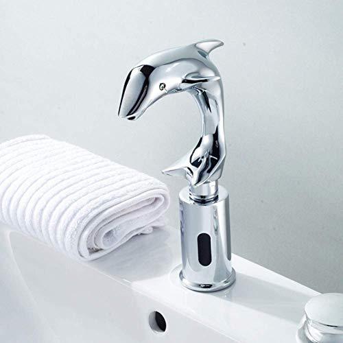 xiaox5 Dolphin Design Grifos automáticos Grifo automático para Sensor Grifo automático para lavamanos Sensor de Grifo