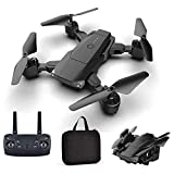 WGXQY Drone avec Caméra pour Adultes 4K HD Live Video Return Home, RC Quadcotper Helicopter for Kids Beginners 17 Min Flight Time Long Range with Selfie Functions,B