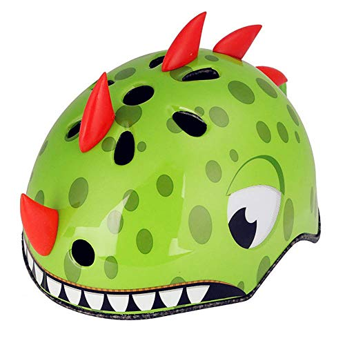 Atphfety Kids Bike Helmet MultiSport Helmet Cycling/Skateboard/Scooter/Skating/Roller Blading Protective Gearfrom Toddler to Youth Green Dragon S5054CM