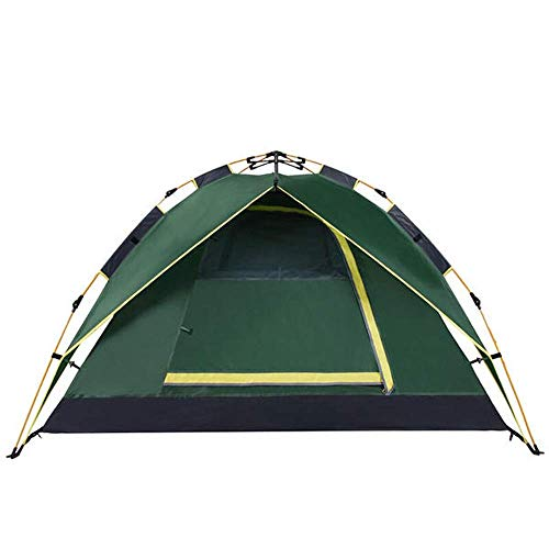 Tienda 200x200x135cm 3-4 Persona Camina Camping Dual Capa Impermeable para Impermeable Portávica Unisex Tienda de cúpula al Aire Libre (Color: Verde, Tamaño: 200x200x135cm)