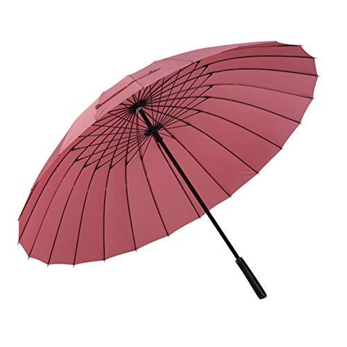 Enorme Gran Paraguas de Golf de Gran tamaño, Doble toldo con ventilación, Paraguas de Varilla a Prueba de Viento, Paraguas de Uso Pesado para Exteriores, Paraguas Familiar,Pale Pinkish Gray