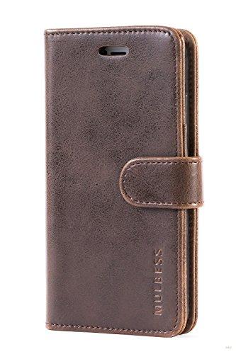 Mulbess Handyhülle für Huawei Nova 2 Hülle, Leder Flip Case Schutzhülle für Huawei Nova 2 Tasche, Vintage Braun - 3