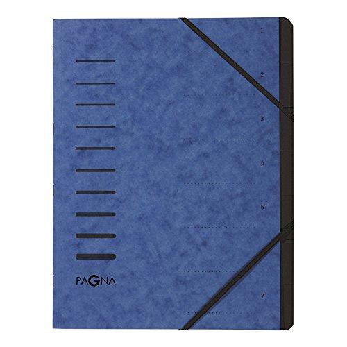 Pagna 40058-02 Ordnungsmappe, 7-teilig, 1-7, blau