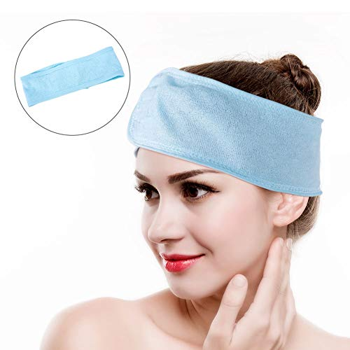 Rotekt Zachte Make-up Droog Haar Handdoek Cosmetische Bad Douche Elastische Hoofdband Blauw