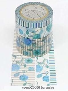 ks-mt-20006 [ baraneko ]  日本製 シール堂 シンジカトウ マスキングテープ 3巻セット Shinzi Katoh masking tape 3 roll set