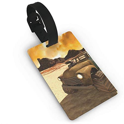 Desert Buggy Bedruckte Reisekoffer-Kofferanhänger, stilvoller und wiedererkennbarer Gepäckanhänger, beschreibbarer Name auf der Rückseite, Autonamen-ID