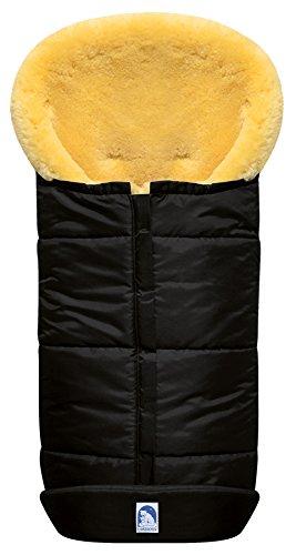 Eisbärchen 975 SZ Premium lammfellfußsack in schwarz, schwarz