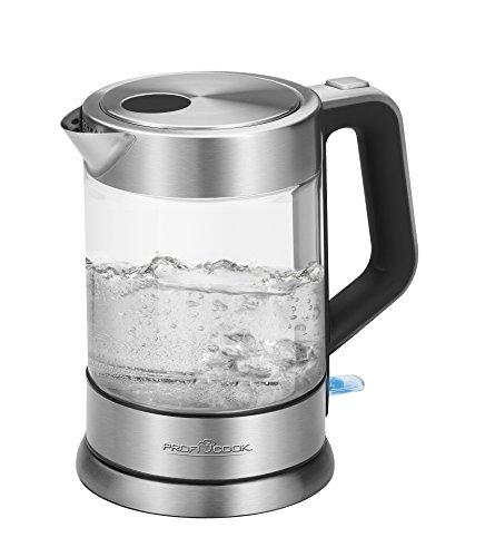 Proficook Hervidor De Agua Eléctrico Con Jarra De Cristal Y Tetera Con...