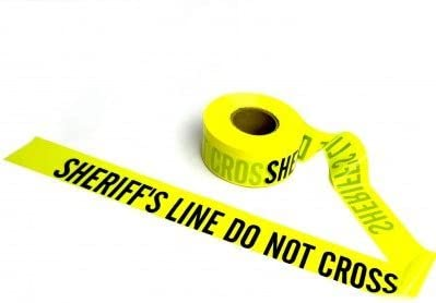 Crime Scene Barricade Tape Yellow Sheriff product image