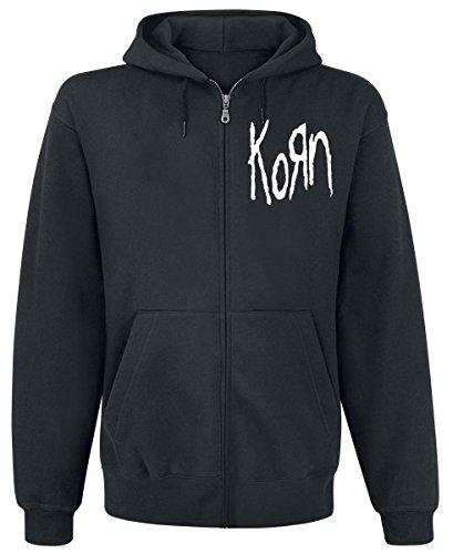 Korn Scratched Type Kapuzenjacke schwarz XL
