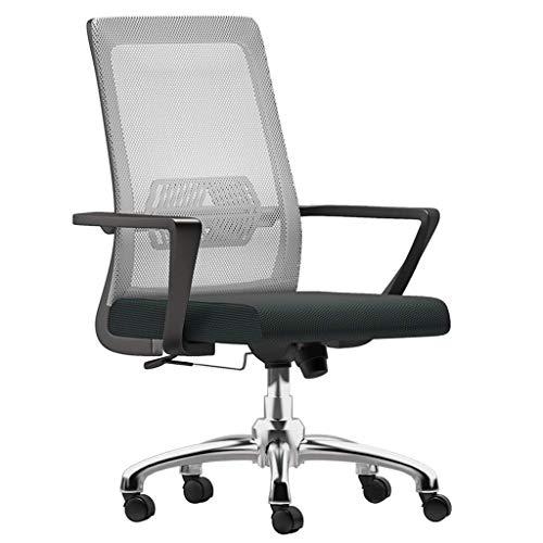 Bureaustoel, conferentiestoel, bureaustoel, draaistoel, ergonomische bureaustoel, grote zitting, verstelbare bureaustoel Wit